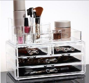 Acrylic Makeup Cosmetics Organizer Luxury Crystal Insert - See more at: http://supremehealthydiets.com/category/beauty/tools-accessories/bags-cases/page/2/#sthash.dOKys4Cr.dpuf
