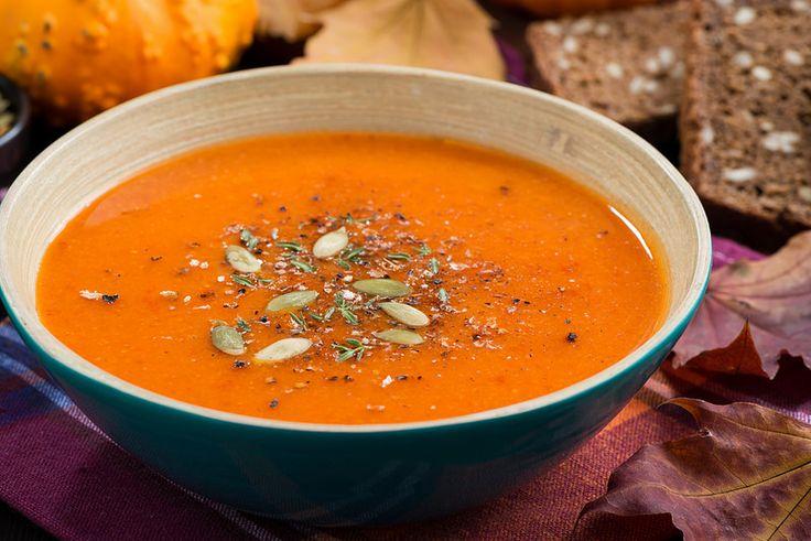 суп из тыквы и чечевицы с перцем