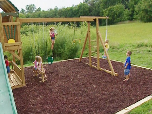 How to build a swing frame and tower for a playground for Playground building plans