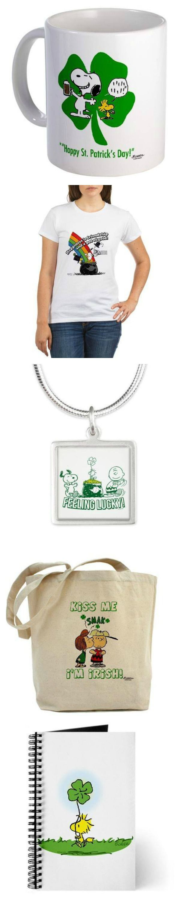 Celebrate St. Patrick's Day with the Peanuts Gang! The Snoopy Store features Snoopy, Charlie Brown, Peppermint Patty and Woodstock to show your luck of Irish. Start shopping at CollectPeanuts.com and help support our site. BONUS! Get free shipping for orders over $40 with code LUCKYME.