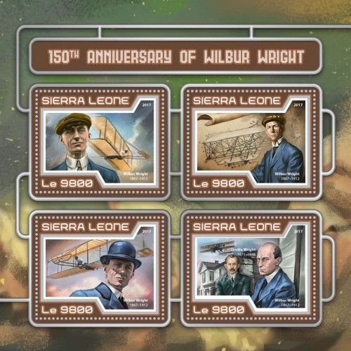 SRL17413a 150th anniversary of Wilbur Wright ( Wilbur Wright (1867–1912); Orville Wright (1871–1948))