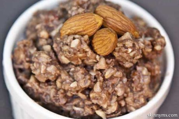 This slow cooker almond blast oatmeal tastes just like your favorite almond candy, but is a healthy way to start your morning.