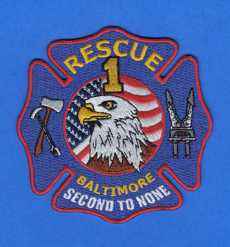 BALTIMORE FIRE DEPARTMENT RESCUE 1 COMPANY PATCH ~ MARYLAND ~ SECOND TO NONE