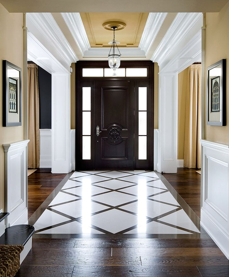 Grand Entrance, Great Colour Contrast And Dramatic Tile