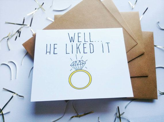 "Funny engagement announcement card-""Put a ring on it"" card"