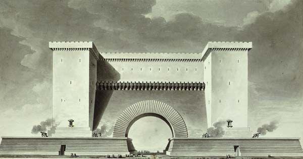 étienne-louis boullée - portes de ville de guerre