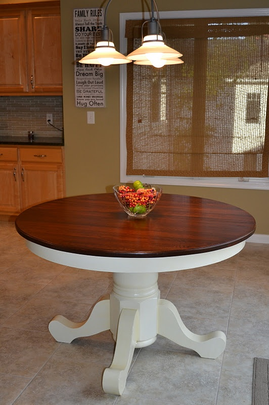 Two Toned Kitchen Table Redo