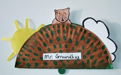 Ground Hog Day kids-crafts