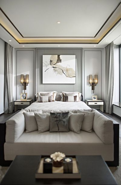 Contemporary luxury master bedroom design