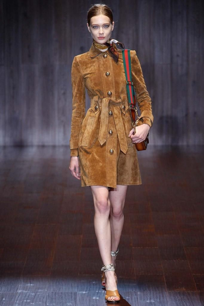 Gucci Spring 2015 Ready-to-Wear - Collection - Gallery - Look 1 - Style.com  Suede suede suede