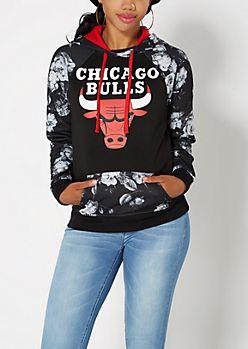 Floral Chicago Bulls Fleece Hoodie