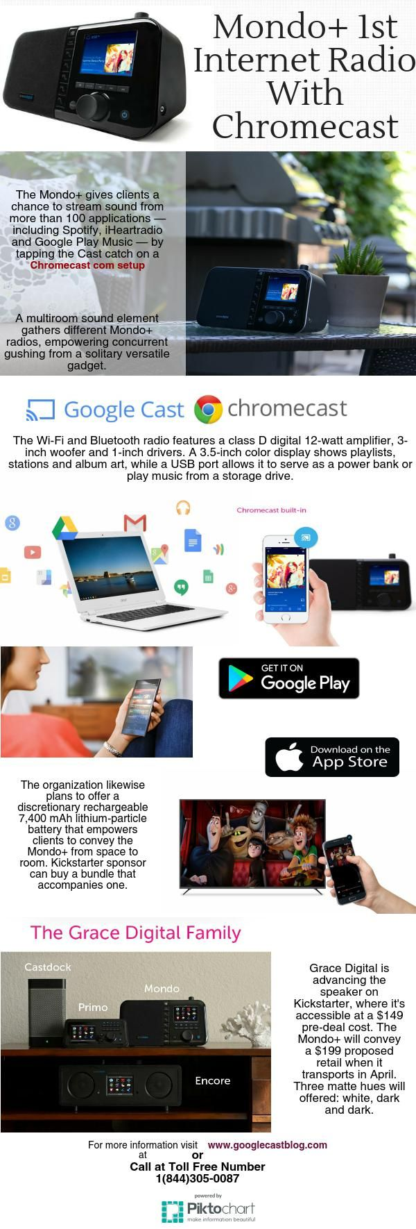 Grace Digital has divulged what it's calling the primary Internet radio with implicit Chromecast.