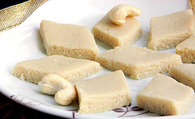 Cashew Barfi i.e. Kaaju Katli   #Recipes #Food #Ganpati #Hindu #India #Maharashtra #Sweets