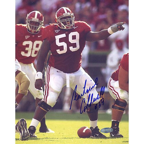 Antoine Caldwell Alabama Pointing At The Line 8x10 Photo - Antoine Caldwell was a standout at Alabama University. He was the starting Center for the Crimson Tide through the 2008 season. Caldwell was a 3-time All American who was drafted by the Tennessee Titans in the 3rd round with the 77th overall pick of the 2009 NFL Draft. Antoine Caldwell has hand signed this 8x10 photograph of him pointing at the line of scrimmage. A Steiner Sports Certificate of Authenticity is included. Gifts…