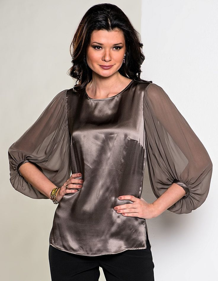 Оригинальные и неординарные фасоны модных шёлковых блузок на каждый день