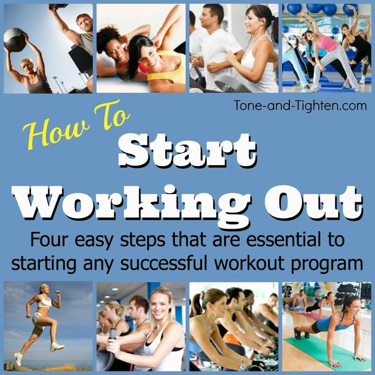 Four easy steps to start any successful workout program on www.Tone-and-Tighten.com