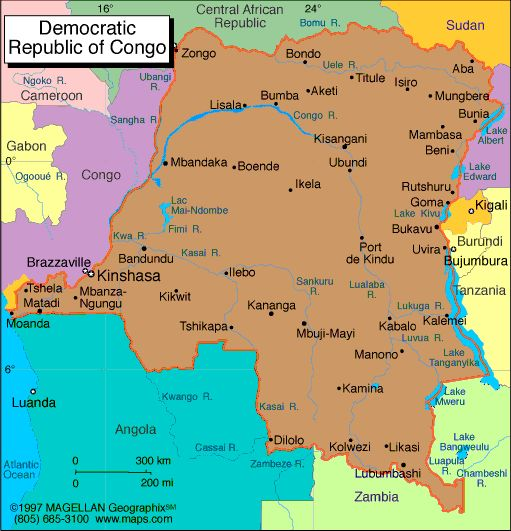 Democratic Republic of the Congo Atlas: Maps and Online Resources | Infoplease.com