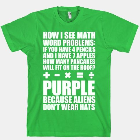 How I See Math Word Problems T-Shirt | LookHUMAN