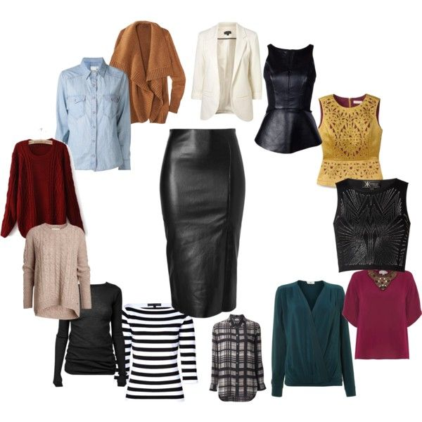 Black Leather Pencil Skirt can go with many things different looks