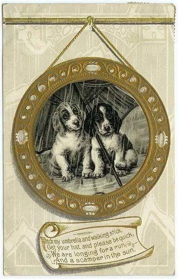 старинные открытки с собаками: 12 тыс изображений найдено в Яндекс.Картинках