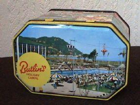 Vintage Butlins Butlin's Holiday Camps Pictorial Souvenir Tin Circa 1960s