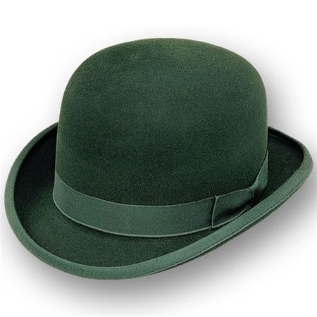 The essential Mr Green bowler hat. Green accessory. Neeeed