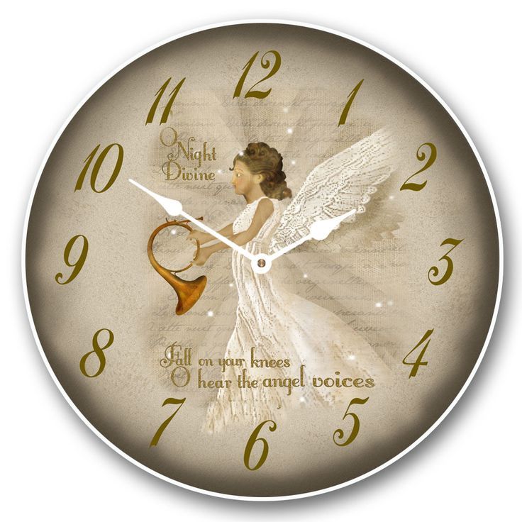 Angel Christmas Clock  Choose Your Size