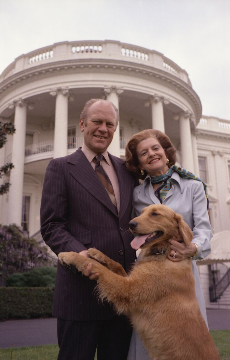First Lady Betty Ford President Ford And Their Dog