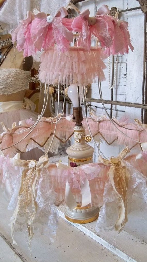 176 best creative lamshades images on pinterest lampshades shabby chic lamp shade large pink and cream embellished ruffles lace recycled wedding dress fabric anita spero keyboard keysfo Images