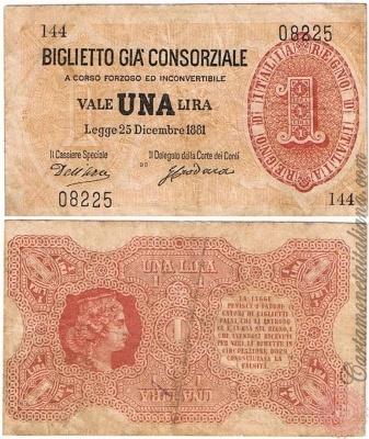 1 LIRA - 1881