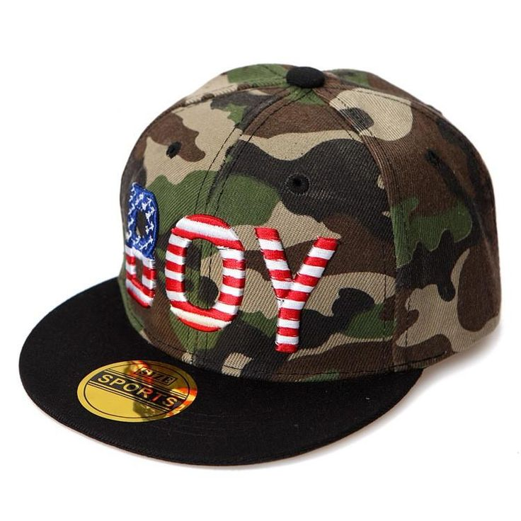 <font><b>Camouflage</b></font> Children's <font><b>cap</b></font> Flat brim boy's girl's Baseball <font><b>caps</b></font> BOY letter hiphop sun hat for Child baby Adjustable 6colors E030 Price: USD 7.7 | UnitedStates