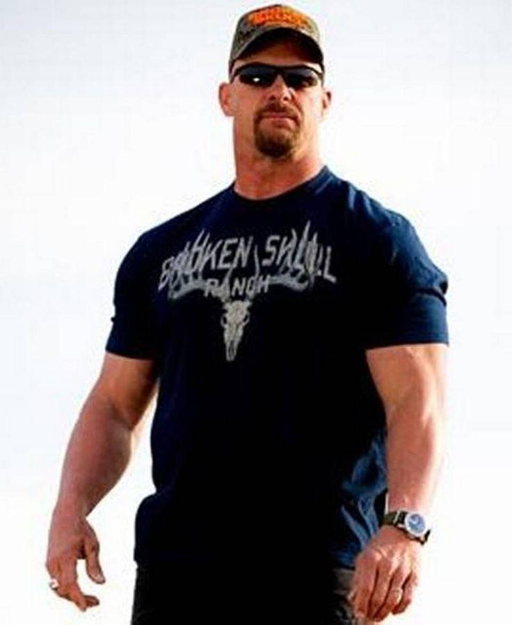 WWE Hall of Famer Stone Cold Steve Austin. Grab the shirt here http://www.prowrestlingtees.com/wrestler-t-shirts-1/steve-austin/whitetail-skull.html