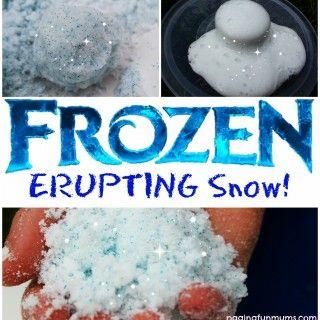 """""""Congelado"""" Erupção de Neve"""