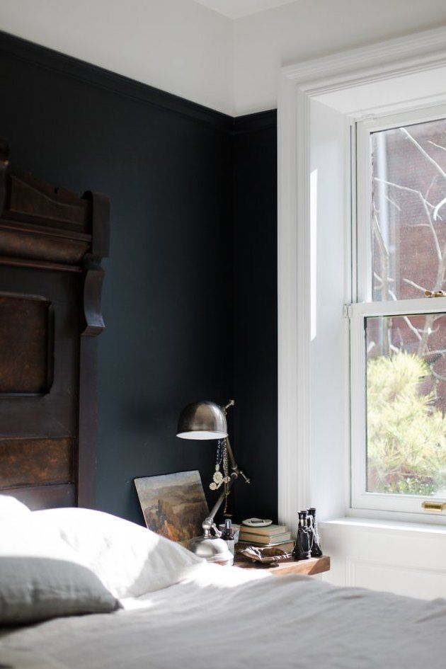 Who Needs An Lbd When You Have These 15 Black Bedroom Ideas Hunker Home Bedroom Interior Accent Wall Bedroom