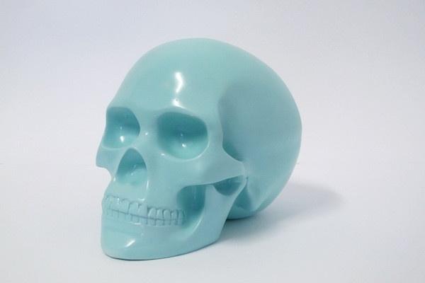 Limited Edition Aqua matte finish skull ornament.Aqua Skull, Bones Yards, Editing Aqua, Decor Aqua, Skull Erif, Aqua Matte, Head Bones, Finish Skull, Skull Ornaments