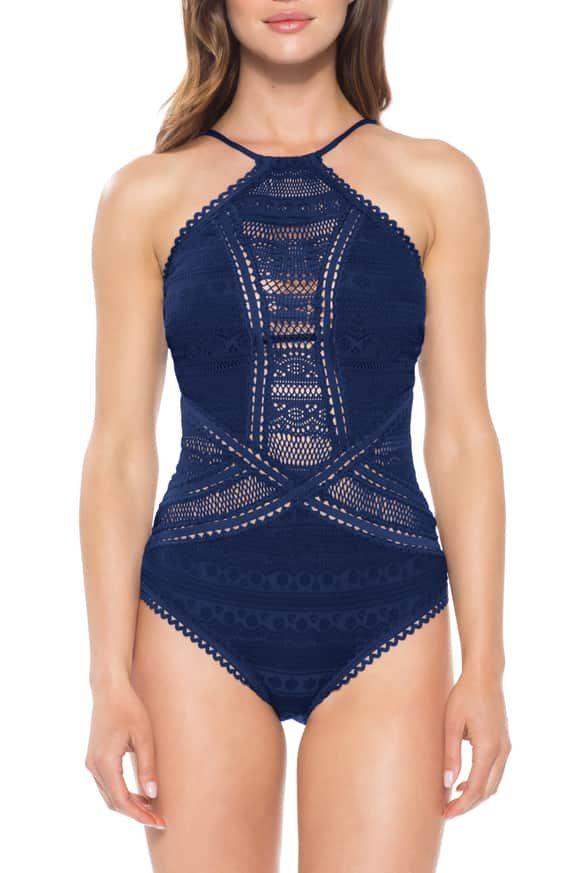b4b83aac06 Becca Prairie Rose Crochet One-Piece Swimsuit | Nordstrom | Bikini ...