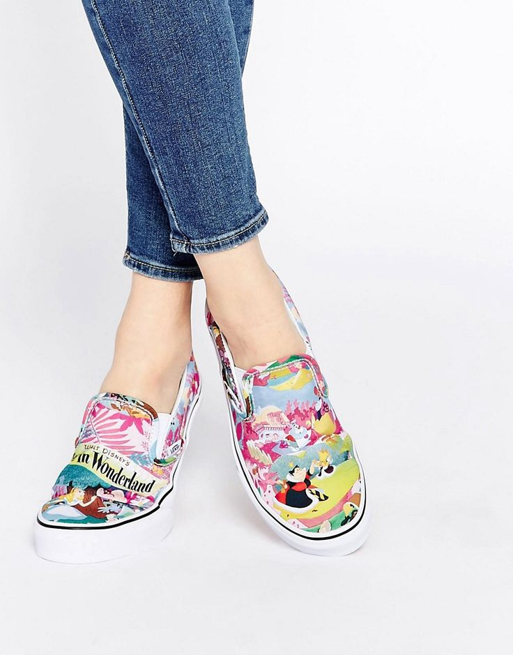 Vans+Disney+Alice+Slip+On+Trainers