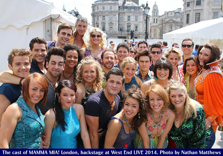 Our gorgeous MAMMA MIA! London cast at West End LIVE on Saturday! ‪#‎MammaMia‬ ‪#‎MammaMiaMusical‬ ‪#‎MusicalTheatre‬ ‪#‎MusicalTheater‬ ‪#‎London‬ ‪#‎WestEnd‬