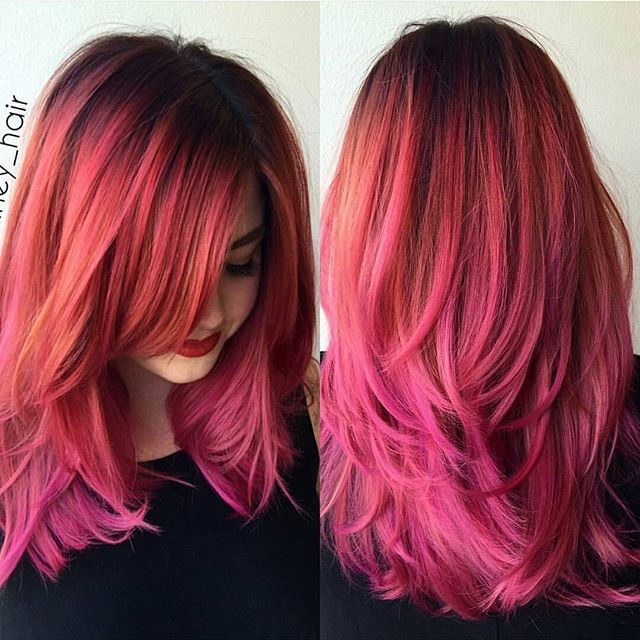 STYLIST SPOTLIGHT: yes, please! | styled by @araney_hair of @uncagedsalonandspa #hairinspiration #hairstylist #cosmetologist #haircolor #colorist #redhair #pinkhair #modernsalon #americansalon #wellahair #styleseat #thecutlife #curlbox #inspo