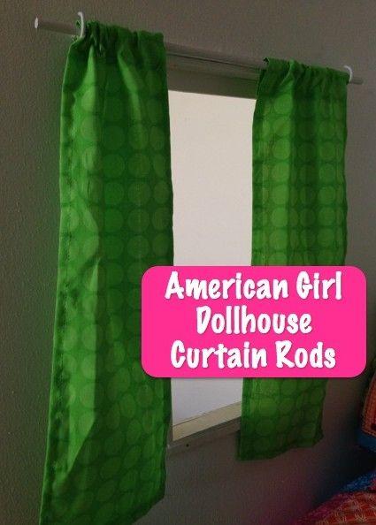 American Girl Dollhouse Curtain Rod *Easy*