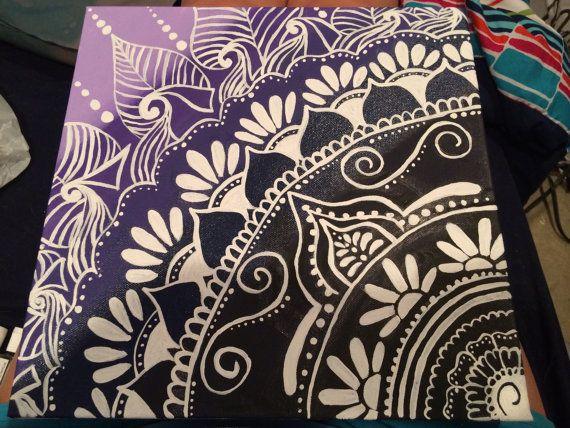 Ombré Henna inspirierte Canvas von CanvasesByHannah auf Etsy