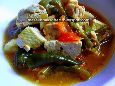 Resep Tahu Tempe Kuah Masak Pedas | Resep Masakan Indonesia - masakenaksehari.blogspot.com