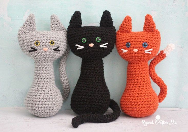 Crochet Cat - Repeat Crafter Me