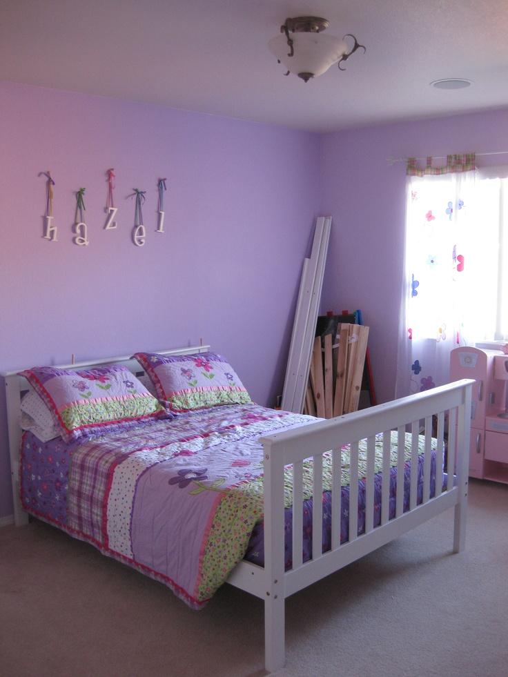 hazel's big girl room (finally). it's actually a bunk bed