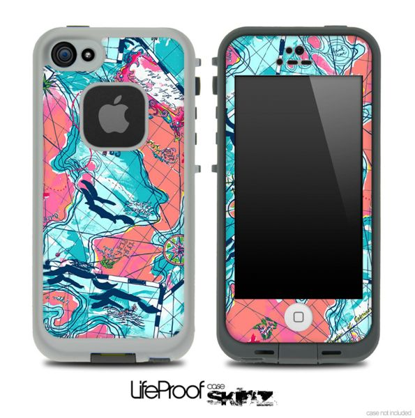 Colorful Navigation Skin for the iPhone 5 or 4/4s LifeProof Case