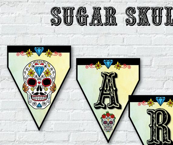 Banner Flags Digital Custom Printable Party SUGAR by BolleBluParty