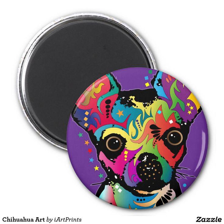 Chihuahua Art Refrigerator Magnets