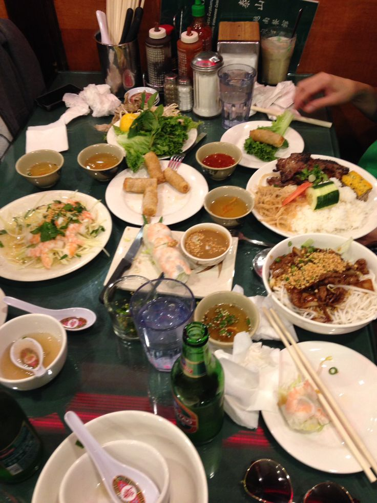 Our table of great Vietnamese food in China Town off Mott street!