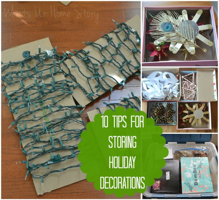 10 great tips for storing away holiday decorations