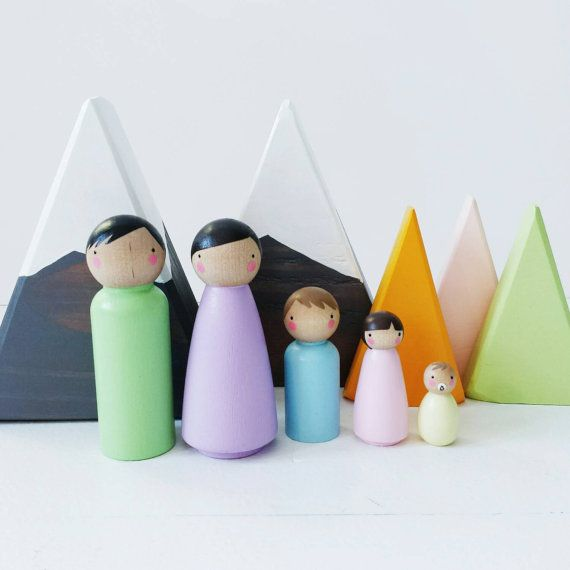 EASTER BASKET SALE! The Pastel Family // dollhouse family // doll house pegs // peg doll family